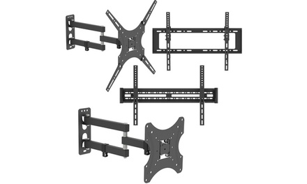 66lb/110lb Adjustable Wall Mount Brackets Rotatable TV Stand
