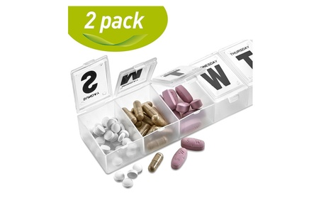 Weekly Pill Organizer Pack of 2 - Pill Planner to Separate Pills bc904be4-1fa8-45a6-9f22-57226e42407d