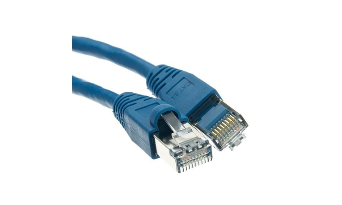 Shielded Cat6a Ethernet Patch Snagless/molded Boot 500 Mhz 20′