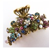 New Womans Crystal Metal Flower Hair Claws Clip pin #86