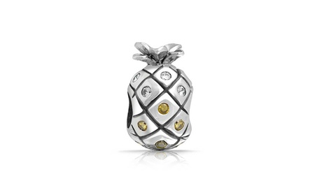 Bling Jewelry CZ Sterling Silver Pineapple Fruit Charm Bead 82f98bd7-ffaa-4085-af77-54318f26300c