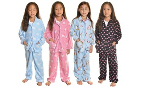 Angelina Girl's Cozy Fleece Pajama Set (2-Piece Set)