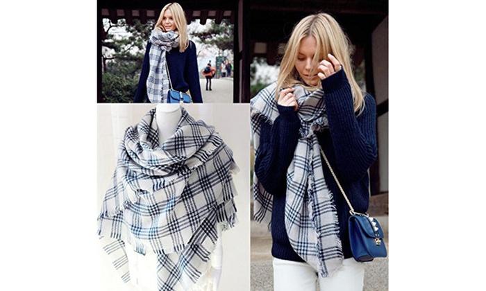 cc1f473d9 New Women's Fashionable Stylish Oversized Scarf Cold Weather Shawl Wrap