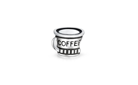 Bling Jewelry Coffee Cup 925 Sterling Silver Charm Bead 5494f616-3bf8-416c-86ed-254322d3032d
