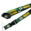 Green Bay Packers Clip Lanyard Keychain Id Ticket NFL - Green