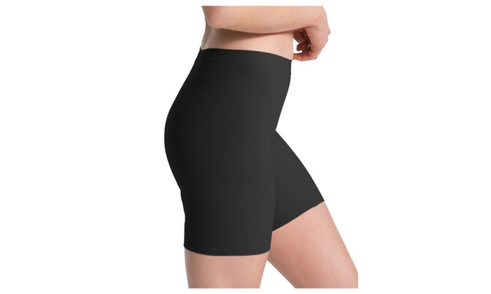 Spanx Power Shorts L 2744 Mid-Thigh Seamless All-Day Comfort Black