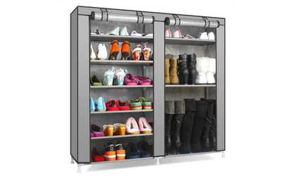 Shop Groupon 9 Tier Large Shoe Rack Organizer With Cover