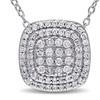 1/2 CT Diamond  Pendant With Chain Silver I3
