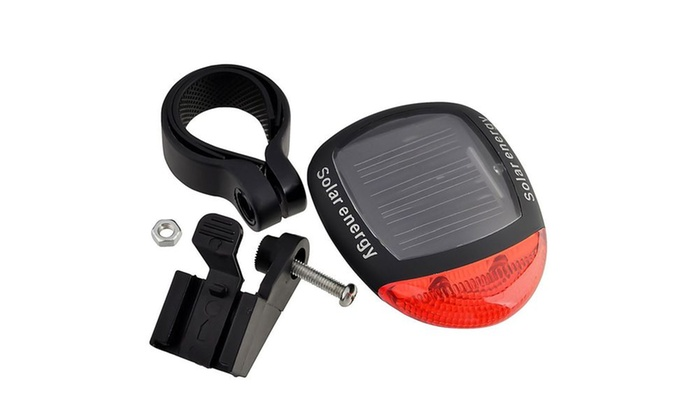 Insten Bicycle Solar Power Energy Taillight 2-LED Bright Red Light