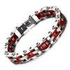 Motorcycle Stainless Steel Biker Chain Bracelet for Men