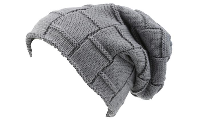 Sakkas Volc Pleated Faux Fur Shearling Line Unisex Winter Hat Beanie