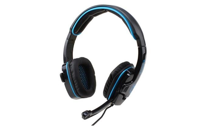 e462e68f62d SADES SA-708 Stereo Gaming Headset Headphone w/ Microphone-Blue | Groupon
