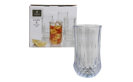 Gibson Jewelite Glass Tumbler 4-pack - 11oz photo