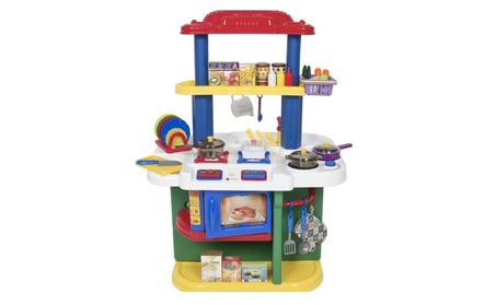 Children Kitchen Pretend Play Set Cooking with Accessories Deluxe New 339c8a64-7b14-4d41-b035-664aaa57b78a