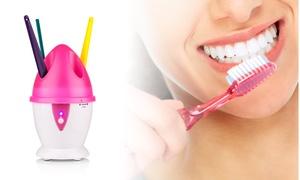 Toothbrush Sanitizer & Holder with UV Bacteria Killing Light
