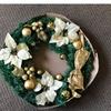 50cm Christmas Bulb Wreath Pine Christmas Tree Holiday Decor