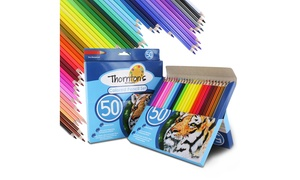 Thornton's Art Supply Colored Pencil Artist Drawing Set (50-Piece)