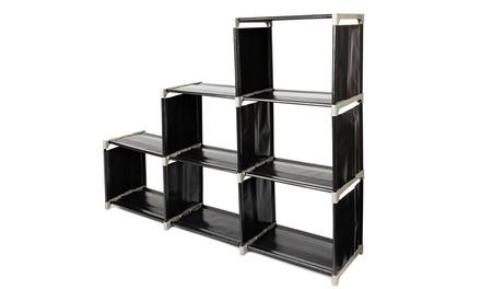3-tier 6 Cube Space Saving Storage Closet Organizer Shelf Bookcase