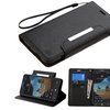 Insten Leather Case Lanyard For Alcatel One Touch Fierce XL Black