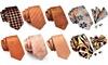 3 Piece Designer Silk Tie Set (Salmon, Orange & Yellow Shades)