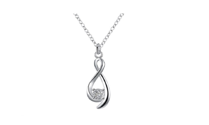 HSP: Crystal Twisted Collares women necklace jewerly