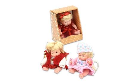 """Plastic 8.5"""" Astd. Krissy Baby Doll aecadbc7-8a3e-47dd-a412-fb8f5ae00e9c"""