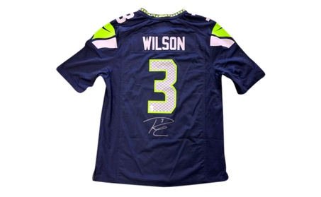 Autographed Russell Wilson Seattle Seahawks Nike Jersey Blue 80817 c1f71f1f-f37e-4032-a9a8-250d79366bcc
