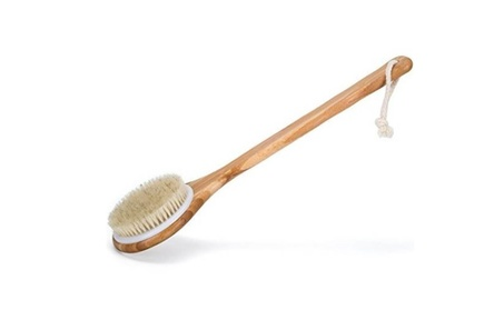 Premium Natural Bristle Wooden Bath Shower Body Back Dry Skin Brush 14d01bd6-7276-4d3b-ae56-8f1cb31b6f0d