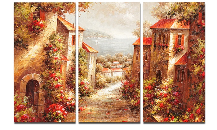 Rome Old Italian Painting - Landscape Painting Metal Wall Art | Groupon
