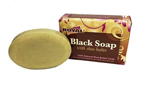 Black Soap Beauty Bar With Shea Butter Leaves Skin And Hair Silky fa1c4778-39be-402a-8a55-fb71c091287c