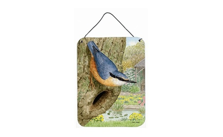 Carolines Treasures ASA2108DS1216 Red-Breasted Nuthatch Wall and Door (Goods For The Home Art Prints & Decals) photo