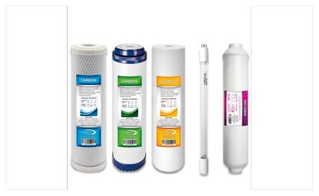 UV Replacement Bulb And RO Filter Set 5 Filters Total UV Post Carbon bda287c5-529f-4568-881b-741e0a6e3008