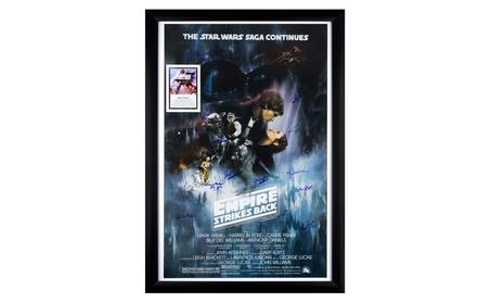 Star Wars - The Empire Strikes Back Cast Signed Movie Poster Framed 11d8e865-2b4b-4250-b834-3ed187675173