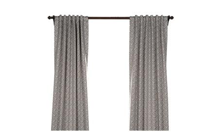 "Cobblestone Taupe Blackout Curtain 50"" Wide Panel Pair 33ef218f-388b-4e12-9d9d-ee85e6e06b2a"