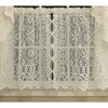 Old World Style Floral Lace Kitchen Curtain 24 x 58 Tier