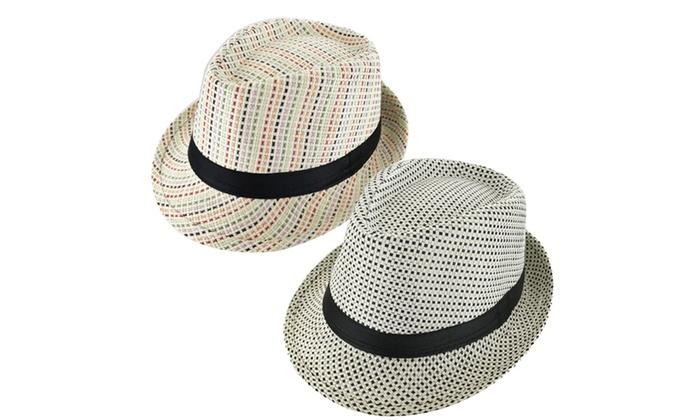 3961ad89816 Faddism Cuban Style Short Brim Fedora Straw Hat