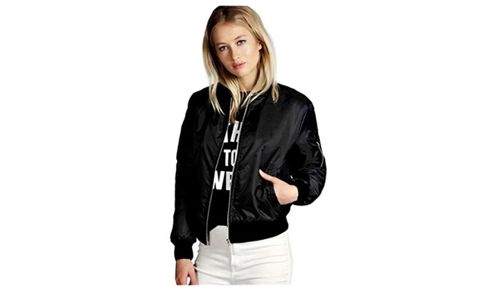 Women's Slim Soft Zipper Motorcycle Jacket