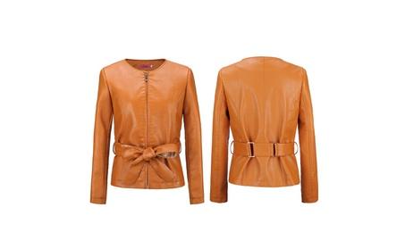 Womens Fashion Motorcycle Bomber Slim Fit Pu Leather Jacket 8a53c2e6-f54f-4c9c-a525-455ffff5b0b5