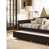 London Faux Leather Sofa Twin Daybed with Roll-Out Trundle Guest Bed