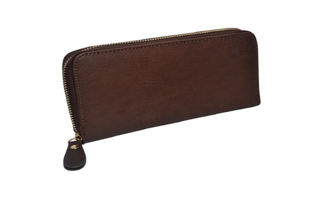 Ladies Single Zip Around Clutch Wallet d5f27267-2b05-4f93-9a45-511281216058