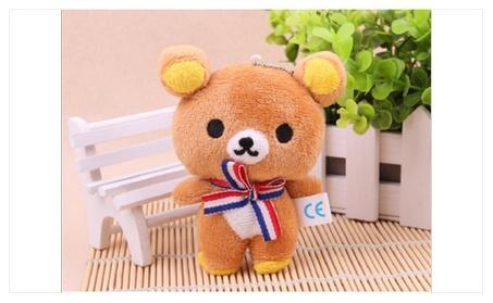 Kawaii 10CM Lover Bear Plush Dolls Key Chain Bag Pendant Charm Toy 6ee51d53-ccc6-42af-96d4-e42292d3ba61