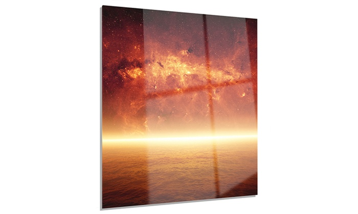 Apocalyptic Background Modern Spacescape Metal Wall Art 12x28 | Groupon
