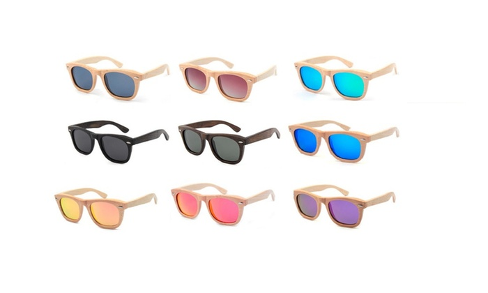 Design Bamboo Sunglasses Colorful Polarized Lens new fashion Unisex