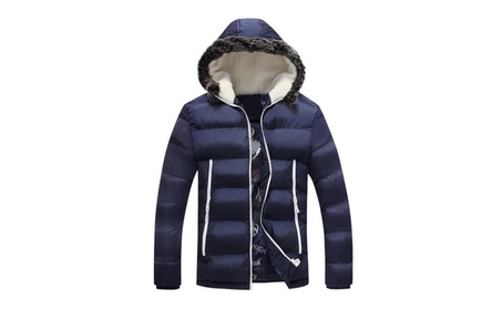 Men's Winter Hooded Cotton Jacket Sports Quilted Outerwear (7 Color) c464eb83-babf-47f1-9f0e-13d33ca942cf