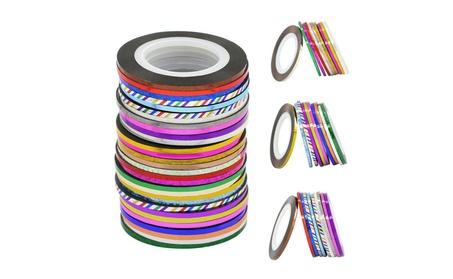 30 pcs Mixed Colors Rolls Striping Tape 46fe09df-01c8-4af7-a0c3-2d485916fb8a