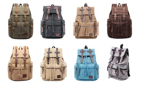 Vintage Retro Canvas Backpack Travel Sport Rucksack Satchel Hiking School Bag