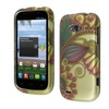 Insten Antique Flower Rubber Coated Design Case For Zte Savvy Z750c