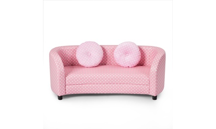 Costway Moisture-proof Kids Sofa Armrest Chair Gift for Girls Pink