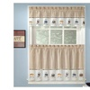 Embroidered Coffee Java Espresso Kitchen Curtains 12 x 56 Valance