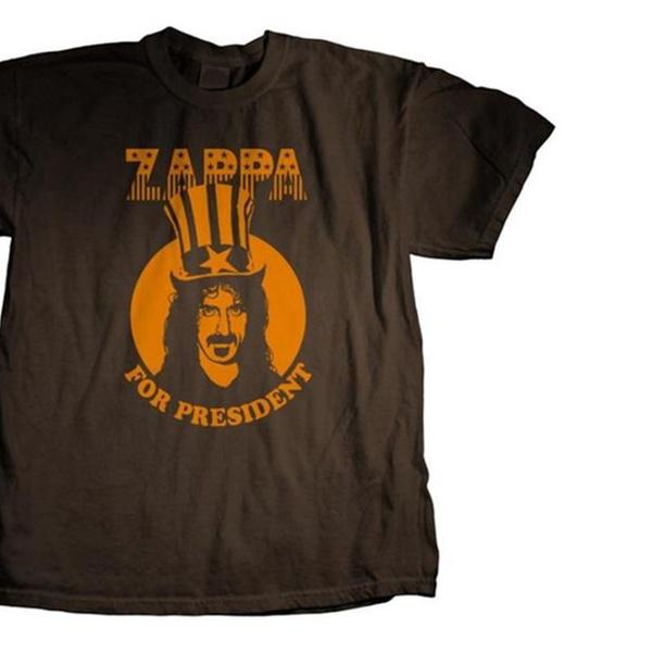 L XL 2XL Brown T-Shirt Frank Zappa President M